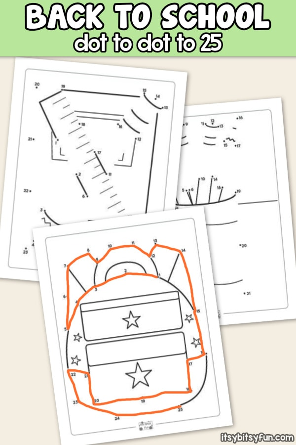photo regarding Back to School Printable Worksheets titled Back again in the direction of College Dot towards Dot Worksheets - Itsy Bitsy Enjoyable
