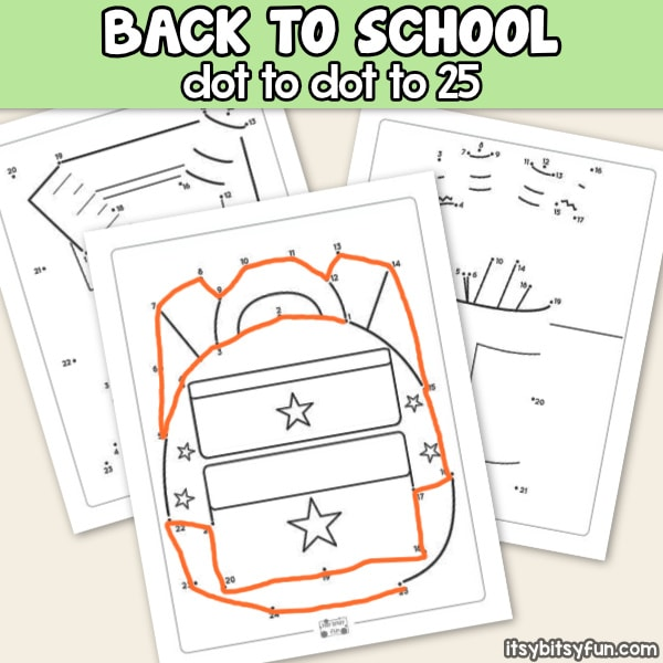 Back to School Dot to Dot Worksheets