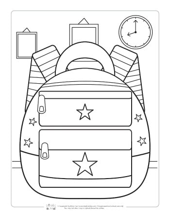 School-themed coloring pages | Preschool coloring pages, Coloring ... | 448x350