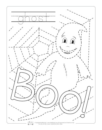 Halloween Tracing Worksheets Itsybitsyfun Com