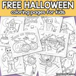 10 Halloween Coloring Pages for Kids