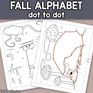 Fall Alphabet Dot to Dot Worksheets