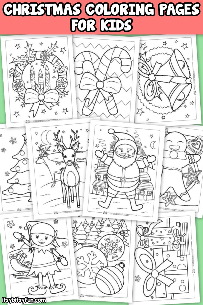 10 Free Christmas Coloring Pages. Perfect for kids or adults.