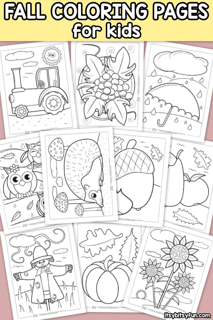 10 Free Fall Coloring Pages for Kids