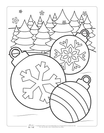 Baubles Coloring Page