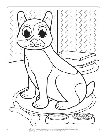 Free Dog Coloring Page for Kids