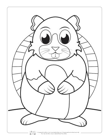 Free Hamster Coloring Page for Kids