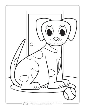 Free Puppy Dog Coloring Page for Kids
