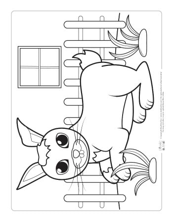 Free Rabbit Coloring Page for Kids