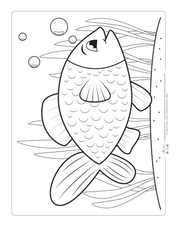 Free Fish Coloring Page for Kids