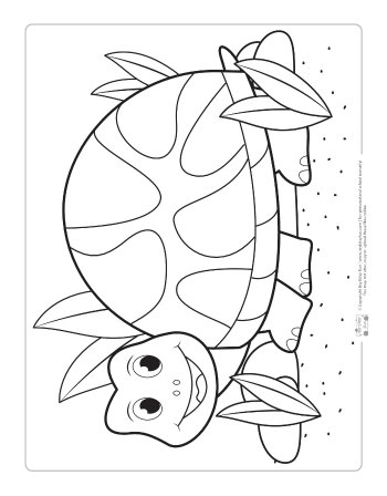 Free Turtle Coloring Page for Kids
