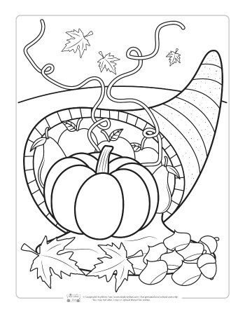 Thanksgiving Coloring Pages, Sheets and Pictures | 448x350
