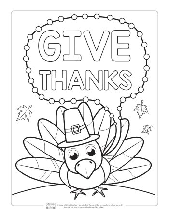 Tremendous Thanksgiving Coloring Page For Kids Pages Turkey Woo Jr ... | 448x350