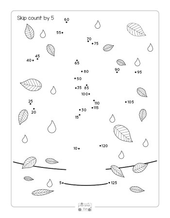 Grapes Dot to Dot Skip Counting Worksheet