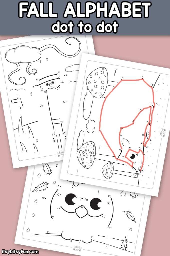 Fall Alphabet Connect the Dots Worksheets