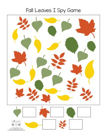 Free Printable Fall Leaves I Spy Game Page 2