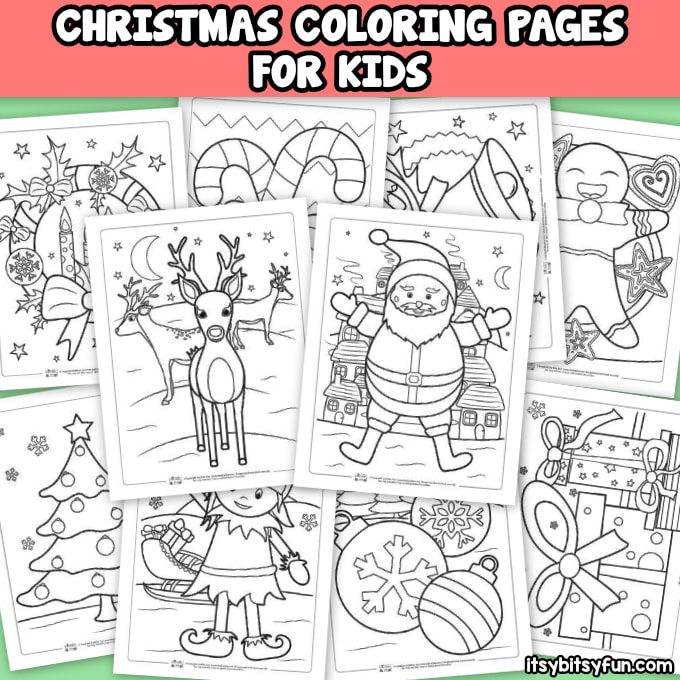 Free Christmas Coloring Pages for Kids or Adults