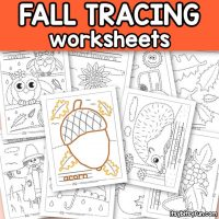 Fall Tracing Worksheets