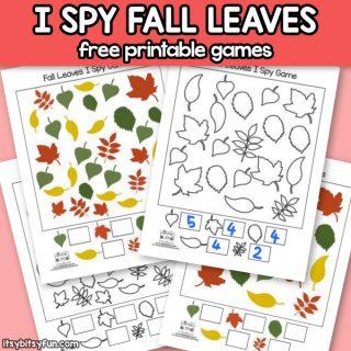 Free Printable Fall Leaves I Spy Games