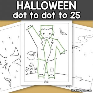 Halloween Dot to Dot Worksheets