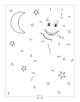 Ghost Dot to Dot Worksheets.