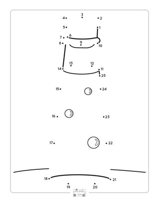 Potion Bottle Dot to Dot Worksheets.