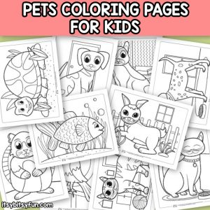 Printable Pets Coloring Pages for Kids