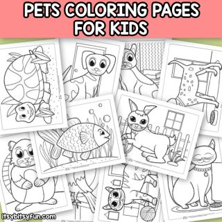 Pets Coloring Pages for Kids