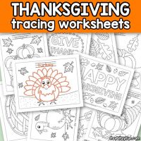 Thanksgiving Tracing Worksheets