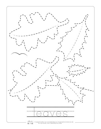 Fall Tracing Worksheets Itsy Bitsy Fun