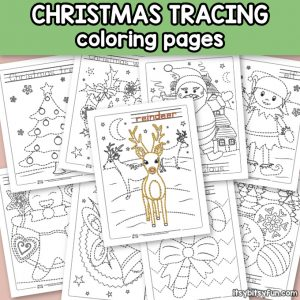 10 Free Christmas Tracing Worksheets for Kindergarten