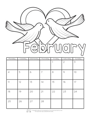 Printable Calendar For Kids 2019 Itsy Bitsy Fun
