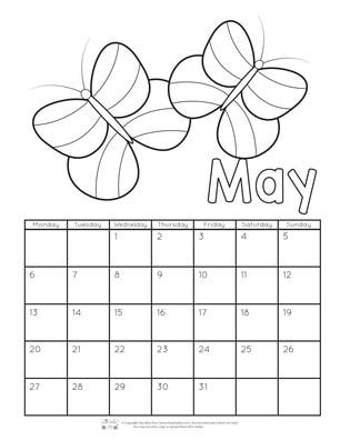 Printable Calendar For Kids 2019 Itsy Bitsy Fun