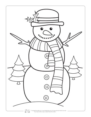 Winter Coloring Pages - Itsy Bitsy Fun