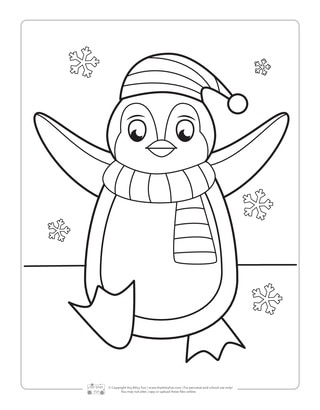 Penguin Coloring Page for Kids