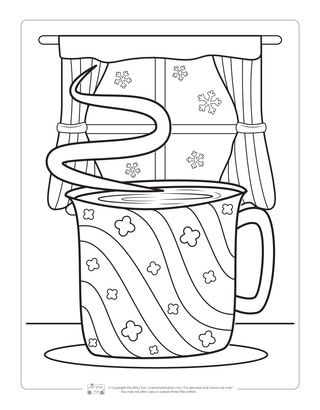 Hot Chocolate Coloring Page for Kids