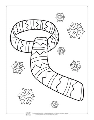 Scarf Coloring Page for Kids