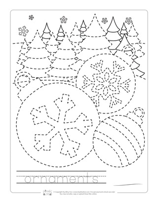 Ornaments Tracing Worksheets for Kids