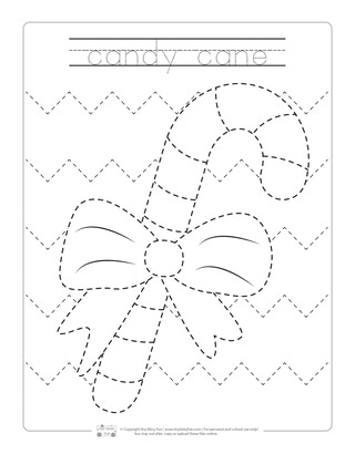 Christmas Tracing Worksheets - Itsy Bitsy Fun