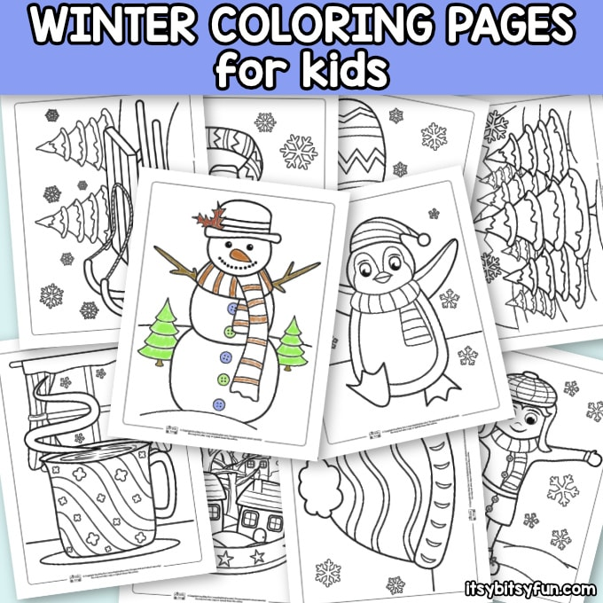 photograph regarding Free Printable Winter Coloring Pages known as Winter season Coloring Web pages - Itsy Bitsy Enjoyable