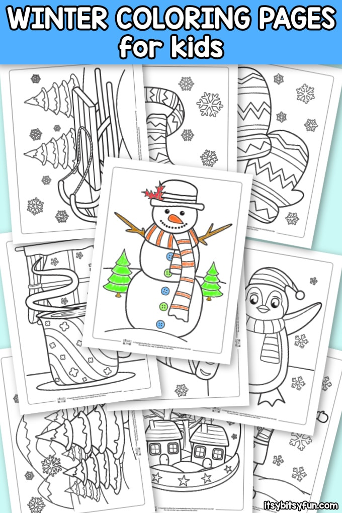 Free Winter Coloring Pages for Kids