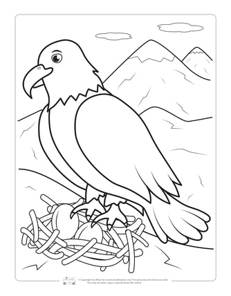 Eagle Coloring Page for Kids