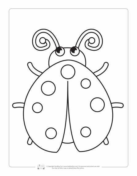 LadybugColoring Page