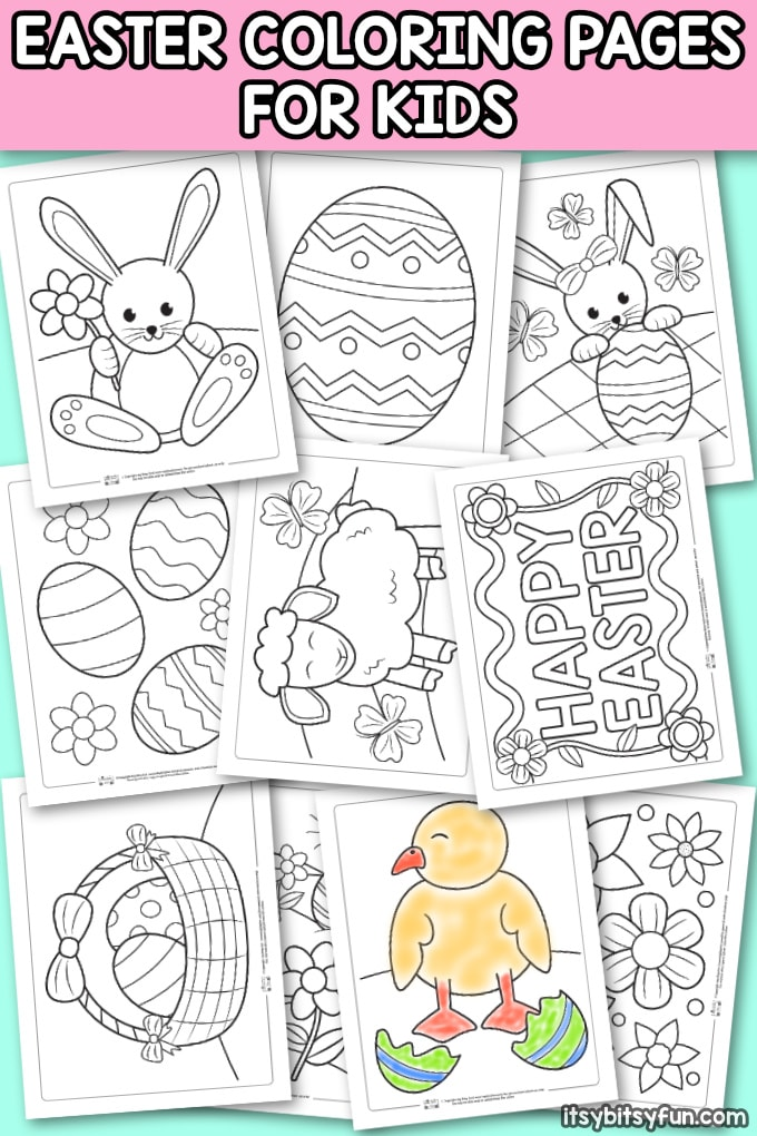 photograph relating to Easter Printable named Printable Easter Coloring Webpages for Young children - Itsy Bitsy Enjoyable