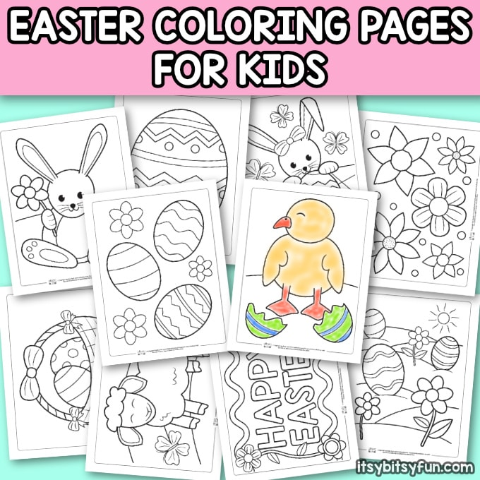 photograph about Easter Printable titled Printable Easter Coloring Web pages for Small children - Itsy Bitsy Enjoyment