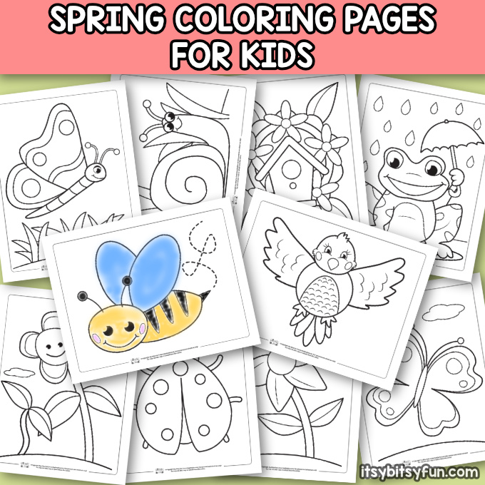 graphic about Spring Coloring Sheets Printable named Spring Coloring Internet pages for Youngsters - Itsy Bitsy Pleasurable