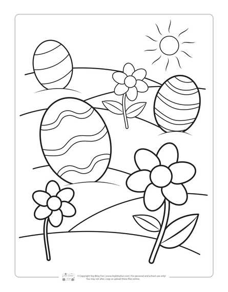 Printable Easter Coloring Pages For Kids - Itsybitsyfun.com