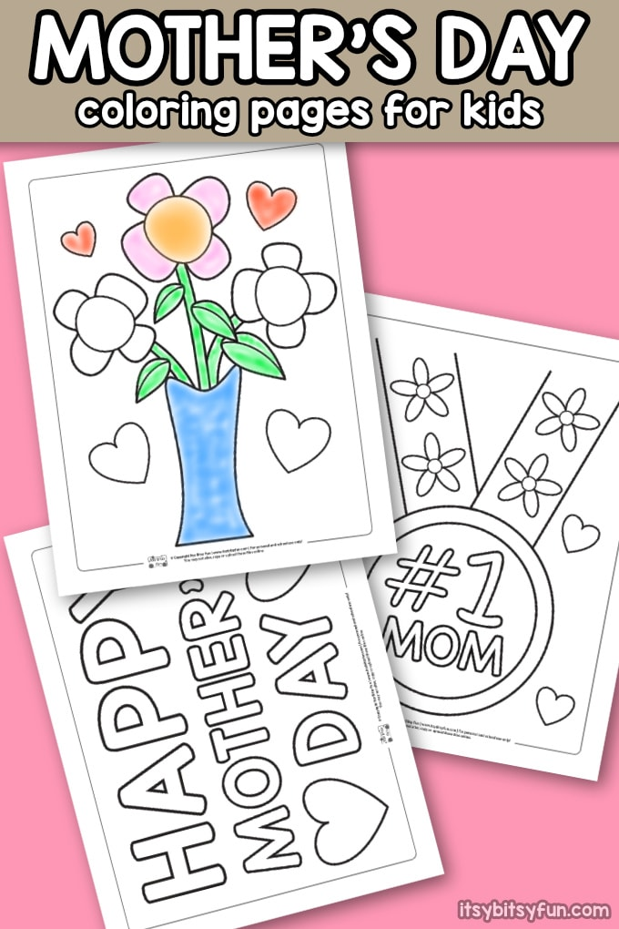 - Mother's Day Coloring Pages - Itsybitsyfun.com