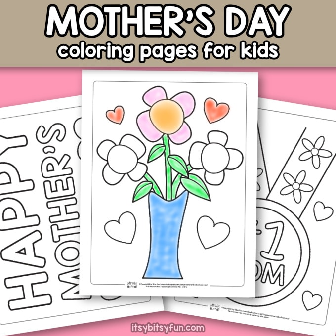 Free printable mother's day coloring pages.