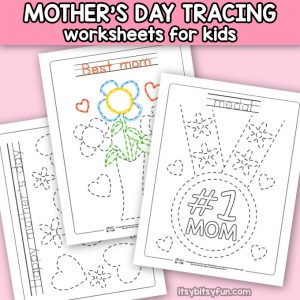 Mother's Day Tracing Worksheets
